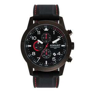berlin black red men's watch