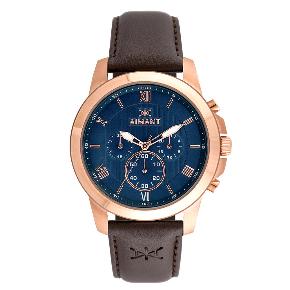 kent rose gold brown men's watch