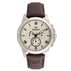 kent silver brown men's watch