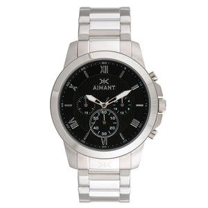 kent silver black men's watch