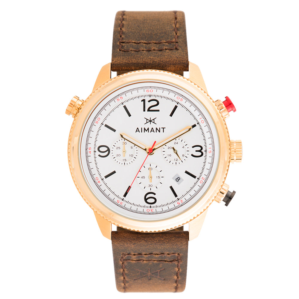 kotor gold brown men's watch
