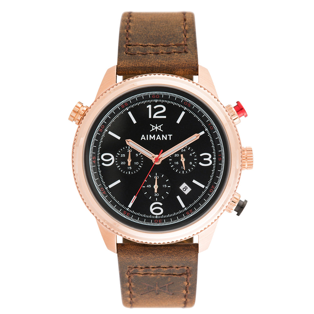 kotor rose gold brown watch for men