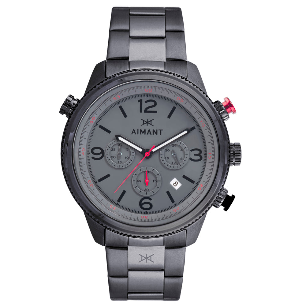 kotor gun metal watch for men