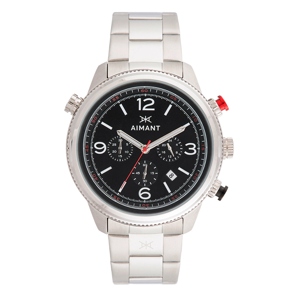 kotor silver black men's watch