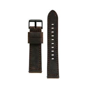 22MM - Brown Leather / Black Buckle