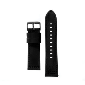 24MM - Black Leather / Black Buckle