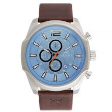 lyon brown silver blue watch for men