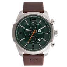 lyon silver brown men's watch