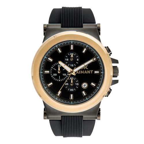 monaco black gold men's watch