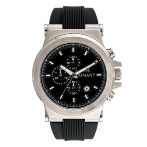 monaco silver black men's watch