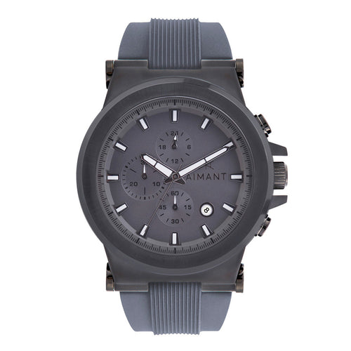 monaco gun metal watch for men