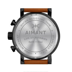 maui black camel men's watch