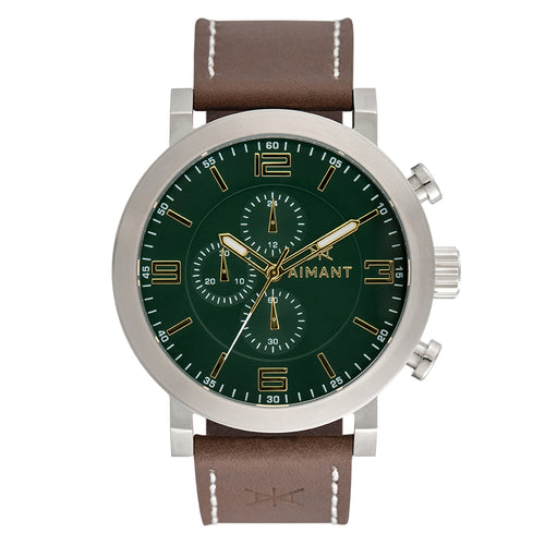 maui silver brown watch for men