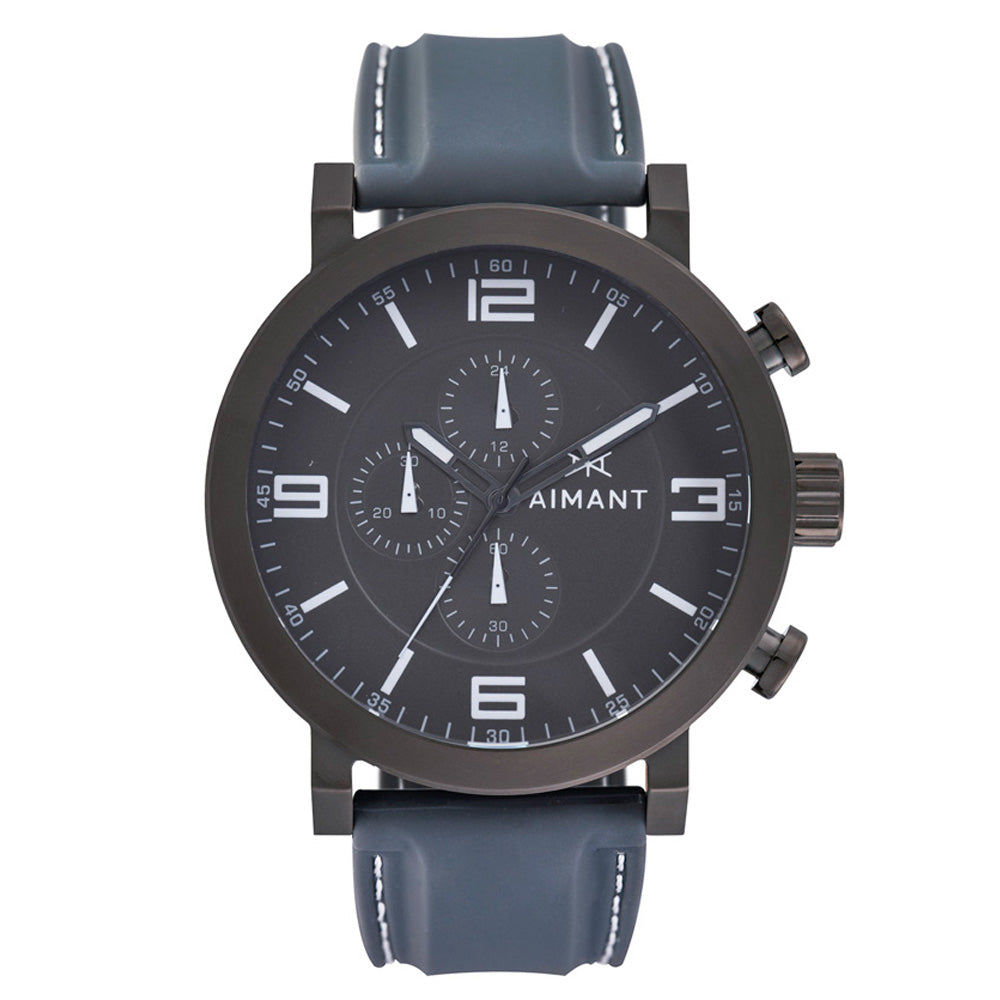 maui gun metal watch for men