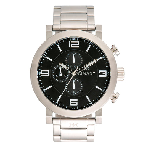 maui silver black men's watch