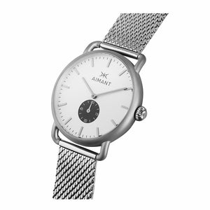 mykonos silver watch for men