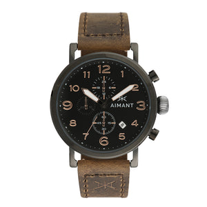 interchangeable brown black leather watch set for men