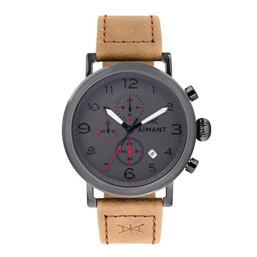 men's rotterdam gun metal camel watch