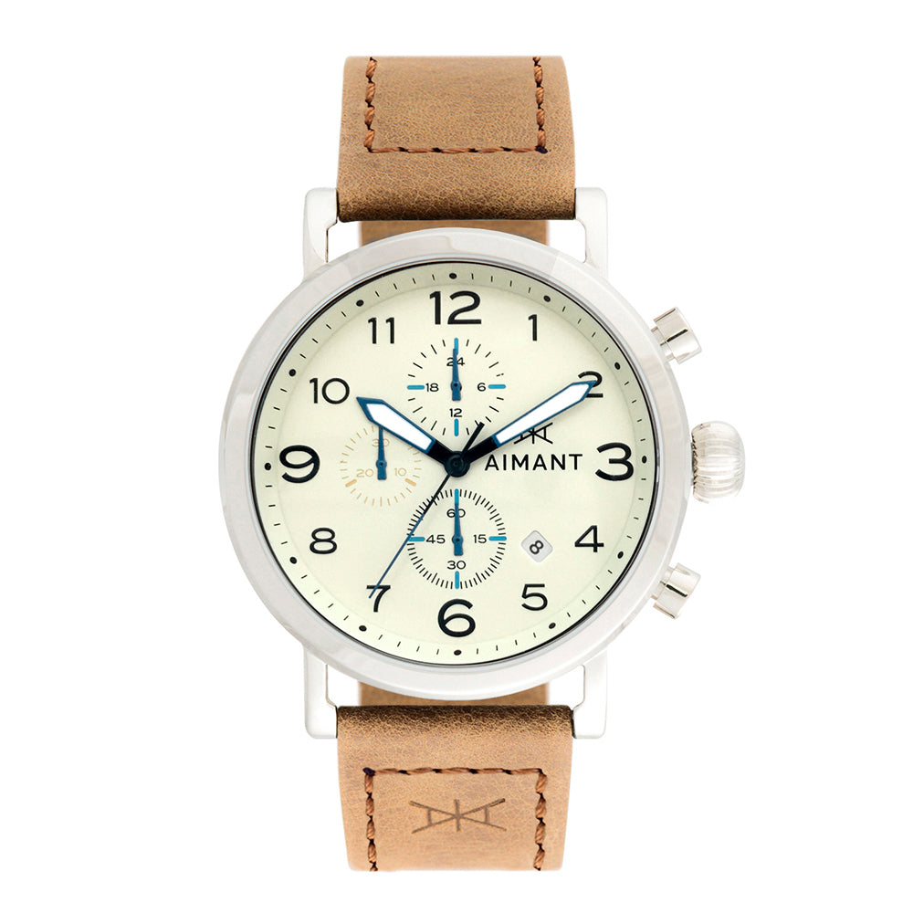 men's rotterdam silver camel watch