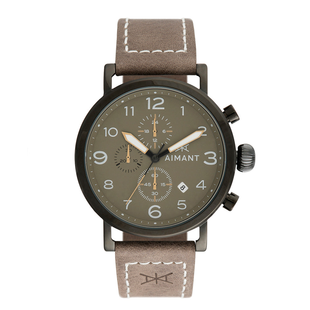 rotterdam black taupe men's watch