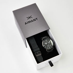 interchangeable black watch set for men