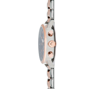 men's rotterdam silver rose gold watch