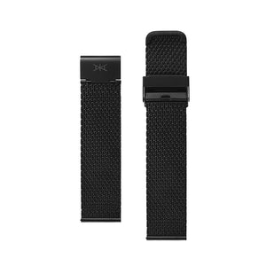 22MM - Black Stainless Steel Mesh