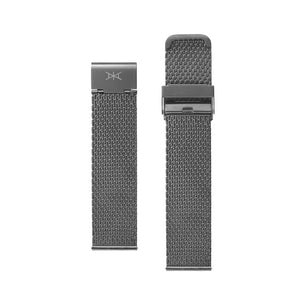 22 MM - Gunmetal Stainless Steel Mesh