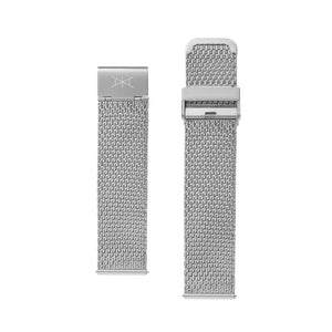 22MM - Silver Stainless Steel Mesh