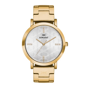 women's paris gold stainless steel watch