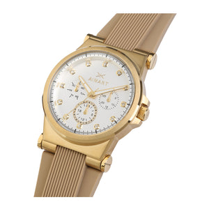 ibiza gold beige watch for women