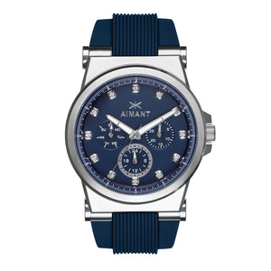 ibiza silver dark blue women's watch