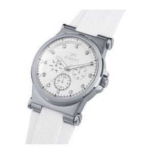 ibiza silver white watch for women