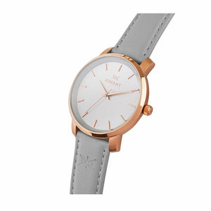 bali rose gold grey watch for women