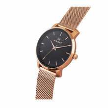 womens bali rose gold mesh strap watch