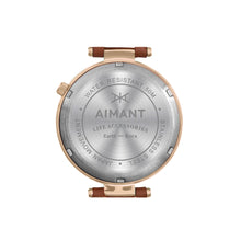 bora rose gold camel watch for women