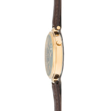 bora gold dark brown watch for women