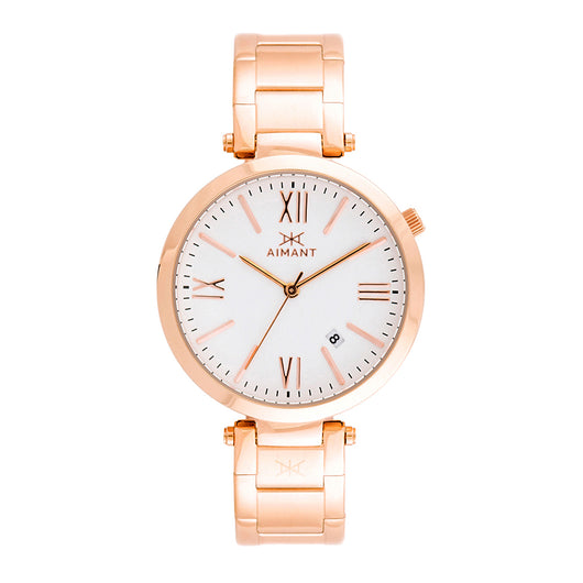 women's bora rose gold white watch