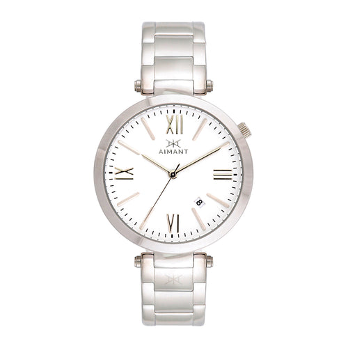 bora silver white women's watch