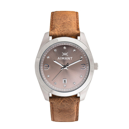 brooklyn silver camel watch for women