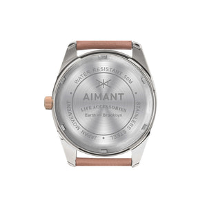 brooklyn silver nude watch for women