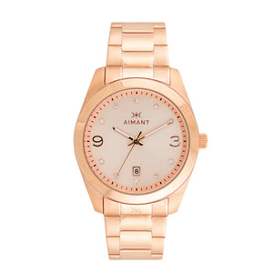 brooklyn rose gold stainless steel women's watch