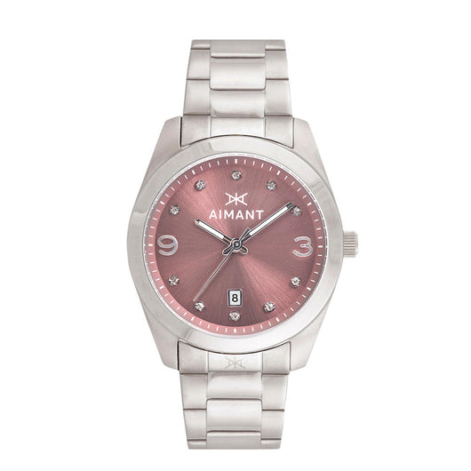 brooklyn silver burgundy watch for women