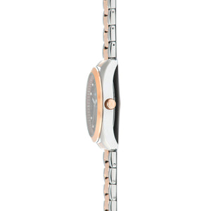 brooklyn silver rose gold women's watch