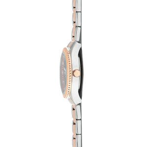 dakota silver rose gold women's watch