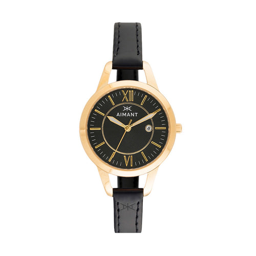 kyoto gold black women's watch