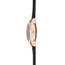 kyoto rose gold black watch for women