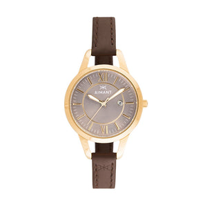 kyoto gold brown women's watch