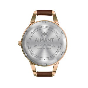 kyoto rose gold brown women's watch