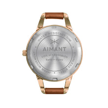 kyoto rose gold camel watch for women